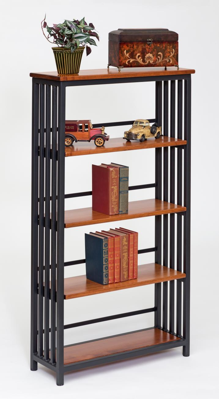 Southwest Mission Wrought Iron Bookcase