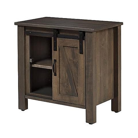 Barn Door Night Stand with door to the right