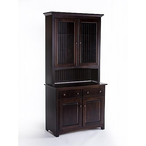 "42"" classic shaker hutch side view"