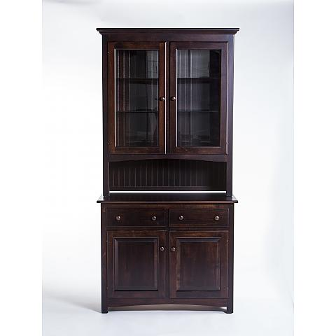 "42"" classic shaker hutch front view"