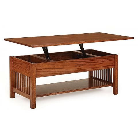 Prairie Mission Coffee Table With Lift Top up