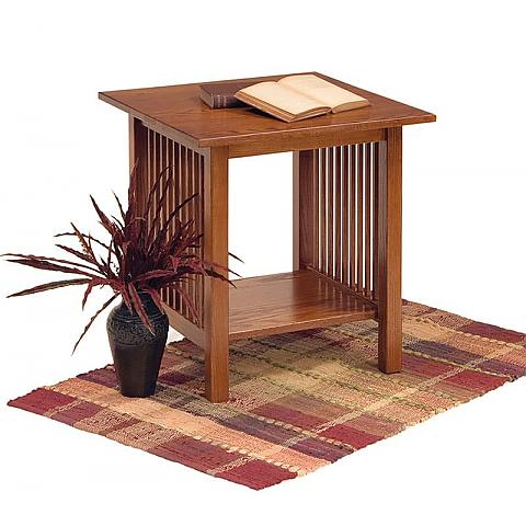 Prairie Mission Square End Table
