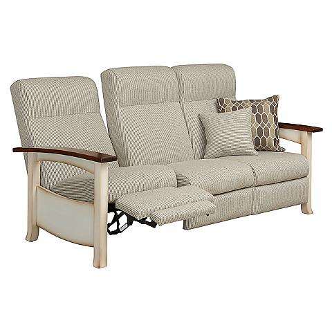 Captiva Recliner Sofa with back reclined and footrest raised