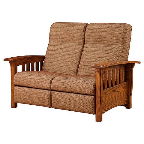 Classic Mission Recliner Love Seat