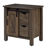 Barn Door Night Stand with door to the left