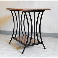 Americana Wrought Iron End Table