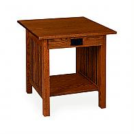 Prairie Mission Square End Table With Drawer