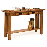 Prairie Mission Sofa Table With 2 Drawers