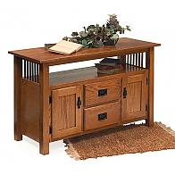 Prairie Mission Media Console With Drawers