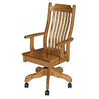 Classic Mission Desk Chair With Gas Lift