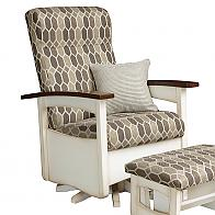 Captiva Swivel Glider shown with optional footrest