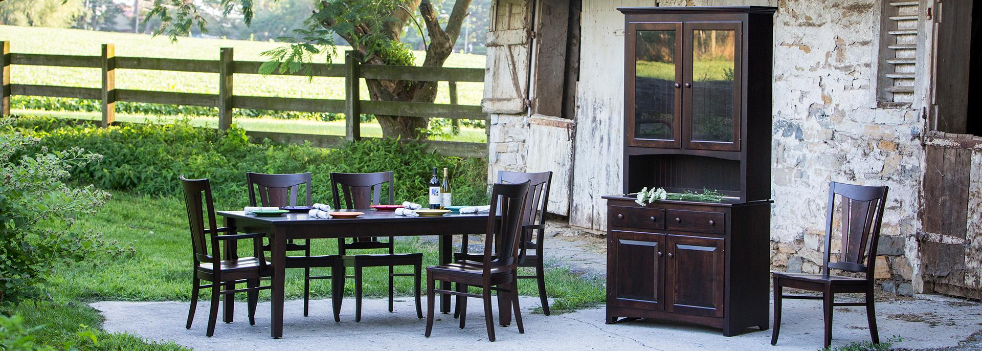 Solid hardwood furniture made by Amish craftsmen in Lancaster, Pennsylvania